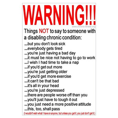 Chronic Condition Warning Poster