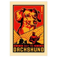 Obey the Dachshund! Dictator Canvas Art