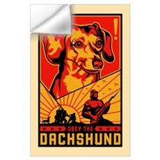 Obey the Dachshund! Dictator Wall Decal