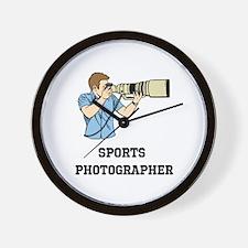 Sports Photographer Wall Clock