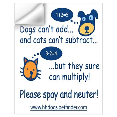 Cute Spay and Neuter Wall Decal