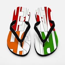 Cute Irish dancer Flip Flops