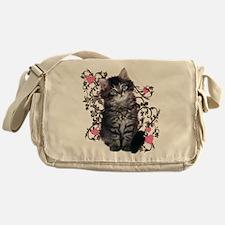 Cute Kitten Kitty Cat Lover Messenger Bag
