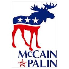McCain Palin Moose Poster