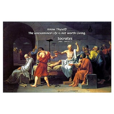 Know Thyself Socrates Quote Poster