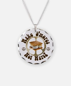Make Smores Not Wars Necklace