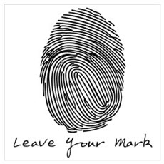 Leave your Mark - Black Canvas Art