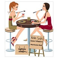 Seminole Sushi Girls Canvas Art