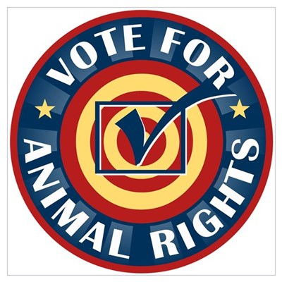 Vote for Animal Rights Framed Print