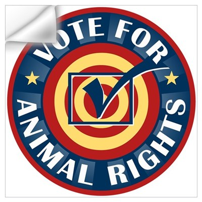 Vote for Animal Rights Wall Decal