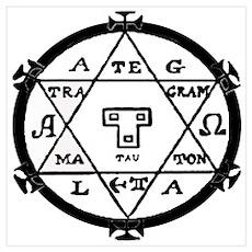Hexagram of Solomon Control Spirits Pr Poster