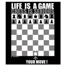 Life is a game, chess is seri Framed Print