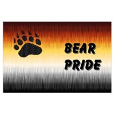 FURRY BEAR PRIDE FLAG2/TEXT Poster