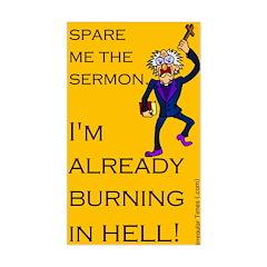 Spare the Sermon Rectangle Decal