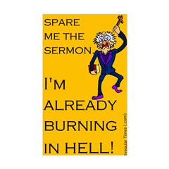 Spare the Sermon Rectangle Decal