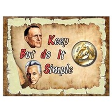 BILL, BOB KEEP IT SIMPLE Framed Print