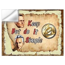 BILL, BOB KEEP IT SIMPLE Wall Decal