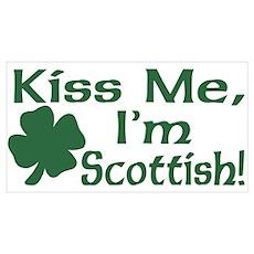 Kiss Me I'm Scottish Poster