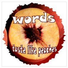 Chuck - Words taste like peaches Poster