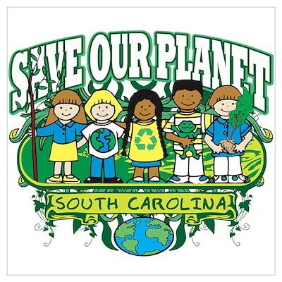 Earth Kids South Carolina Poster