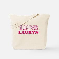 I Love Lauryn Tote Bag