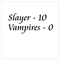 Slayer vs. Vampires Framed Print