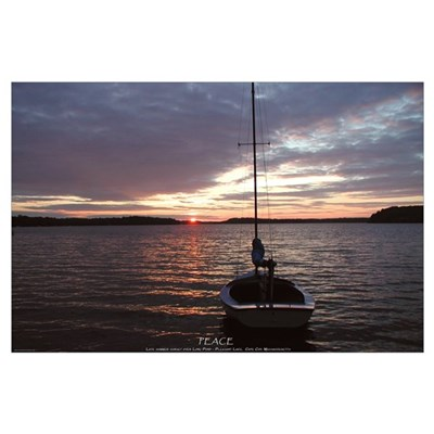 Peace - Cape Cod Sunset Photo large 23 x 35 Poster