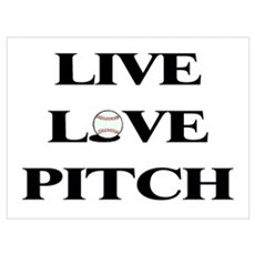 Live, Love, Pitch (Baseball) Framed Print