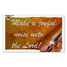 Joyful Violin Rectangle Decal