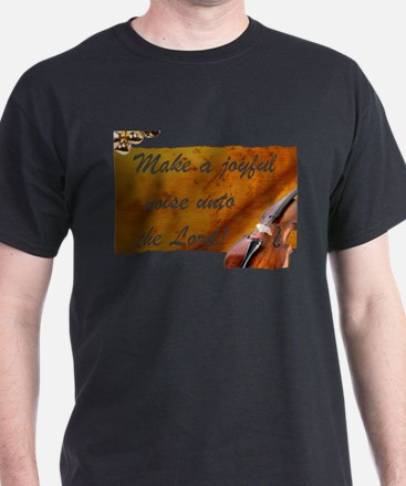 Joyful Violin Black T-Shirt