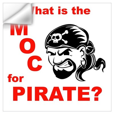 Pirate MOC Wall Decal