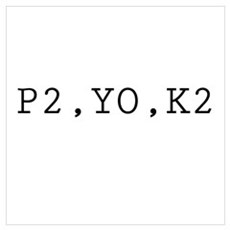 P2,YO,K2 (Knitting) Framed Print