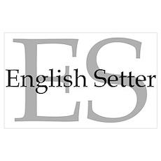 English Setter ES Poster
