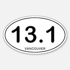Vancouver Half Marathon Sticker (Oval)