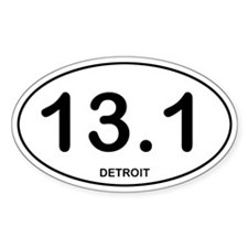 Detroit Half Marathon Decal