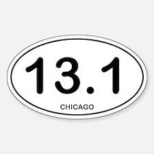 Chicago Half Marathon Sticker (Oval)