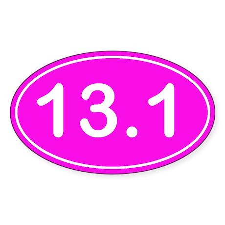 Half Marathon *pink* Sticker (Oval)