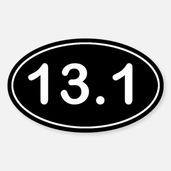 Half Marathon *black* Sticker (Oval)