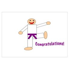 Purple Belt Congratulations Poster