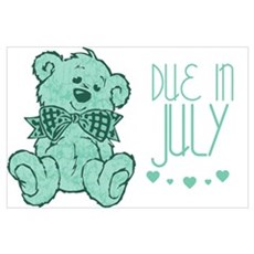 Green Marble Teddy Due In July Poster