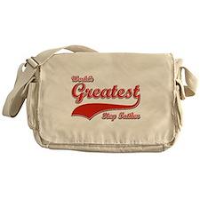 World's greatest Step father Messenger Bag