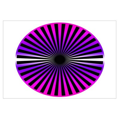 Pink Wheel Canvas Art