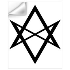 Black Unicursal Hexagram Wall Decal