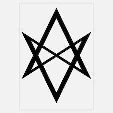 Black Unicursal Hexagram