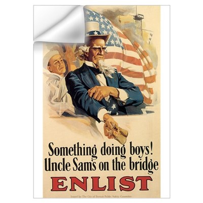 USN Uncle Sam Wall Decal