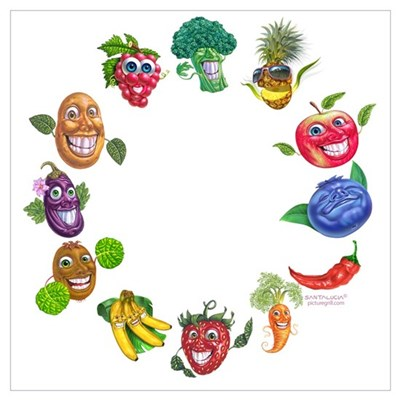 vegetables and fruits Poster