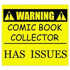 WARNING: Comic Book Collector Poster