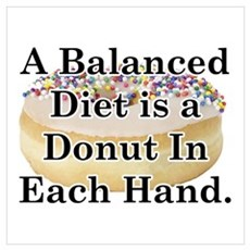 Balanced Donut Canvas Art