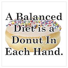 Balanced Donut Poster