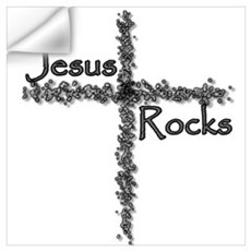 Jesus Rocks Christian Youth Wall Decal
